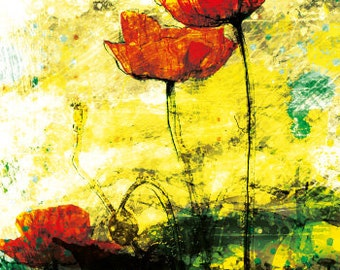 Red Poppies Greeting Card 03