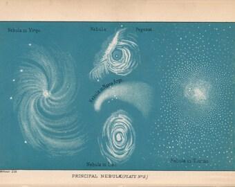 1897 Nebula, Nebulae Antique Astronomy Print