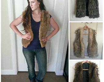Faux fur vest Shaggy Fashionable