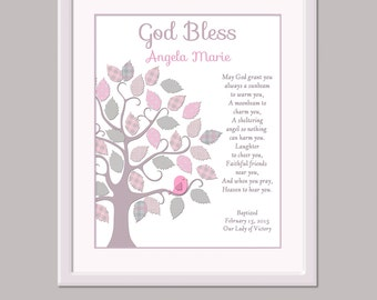 Girls Baptism Gift - Baptism Gift For Girls - Girls Christening Gift - Christening Gift For Girls - Baptism Print - Baptism Sign