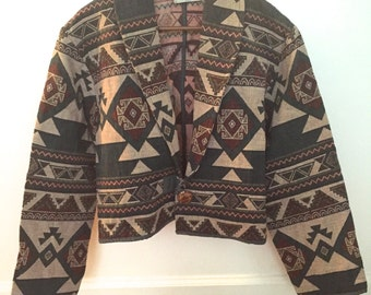 Vintage Southwest Sandy Desert Cropped Jacket