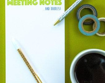 Meeting Notes Pad