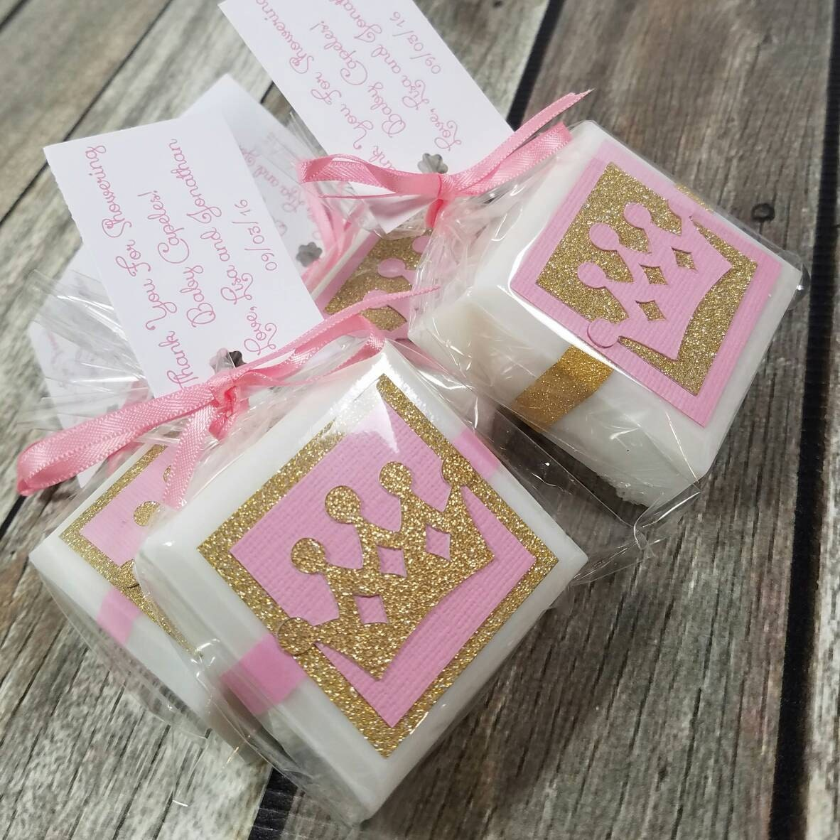 Princess Baby Shower Favors   Princess Birthday Party   Princess Party  Favors   Soap Favors   Crowns   Girls Birthday   Pink And Gold