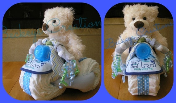 Diaper Tricycle 3 Wheeler Diaper Cake By Beckeyscreations