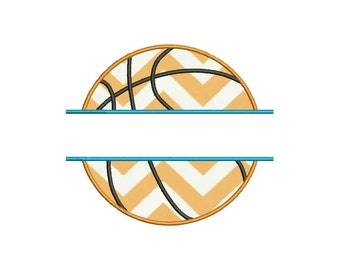 BasketBall Split Embroidery Design Machine Applique Embroidery Designs 7 Size - INSTANT DOWNLOAD