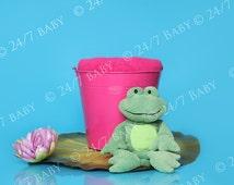 Digital Newborn Backdrop Photo Prop Instant Download Princess Frog LilyPad Scene Prop Newborn Baby Photography