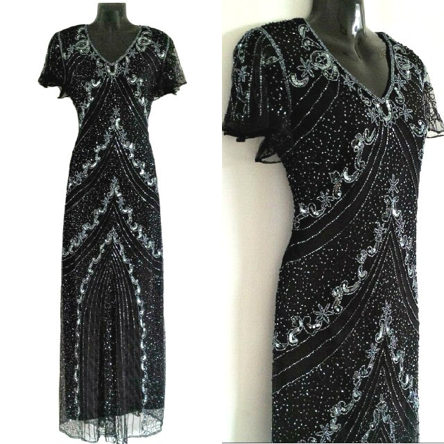 A embellished flapper dress 1920 s great gatsby dress by jywal