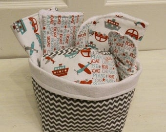 Transportation Baby Boy Gift Basket- Cars Planes and Boats