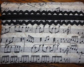 Cosmetic Bag musical fabric