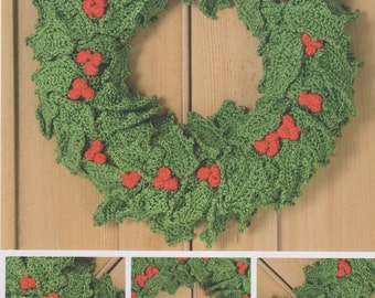 DMC (15329L/2) Festive Holly Garland Crochet Pattern