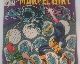 X-MEN #48, Cyclops and Marvel Girl, Marvel Comics 1968