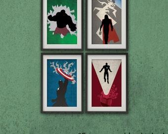 Marvel's The Avengers - Avengers Bundle - Wall Art, Fan Art, Minimalist