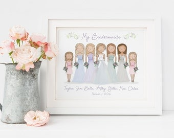 ... Bridesmaid Gift - Gift for Bridal Party - Bride Gift Ideas - Wedding