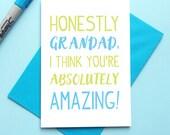 Personalised Grandad Birthday Card