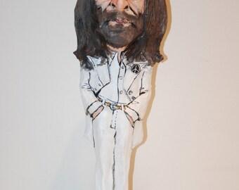 The Beatles, John Lennon sculpture, Hand sculpted, Rock Star decor