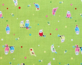fat quarter / Japanese fabric / Lecien / kawaii fabric / retro fabric / bird fabric / animal fabric