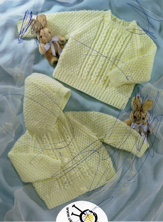 baby sweater & hooded cardigan knitting pattern jacket by ...