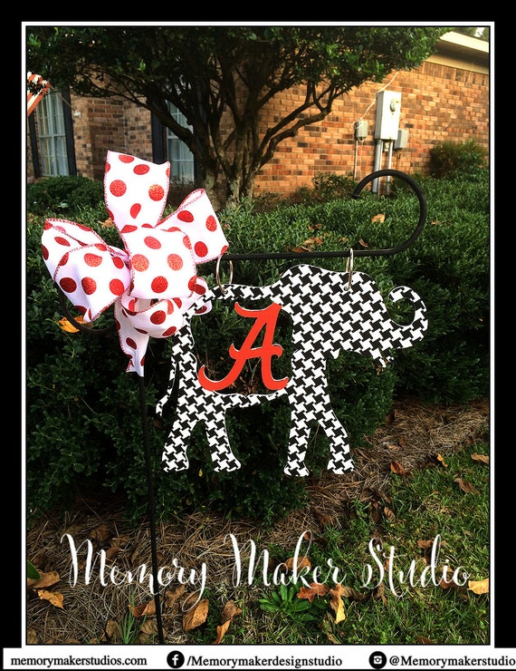 Alabama Houndstooth Elephant Lawn and Garden Flag Houndstooth