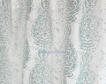 Shower Curtain Manchester Pale Aqua Snowy White 72x 84 108 Fabric Shower  Curtain Long Shower Curtain
