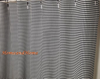 Superb Fabric Shower Curtain Houndstooth Check Black White 72 X 84 108 Extra Long Shower  Curtain Extra