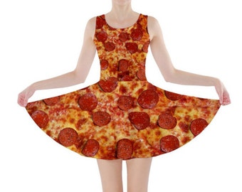 Pepperoni Pizza Skater Dress