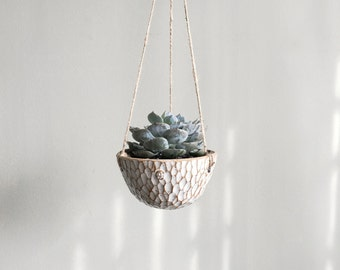 Made to Order | White hanging planter by Mud to Life