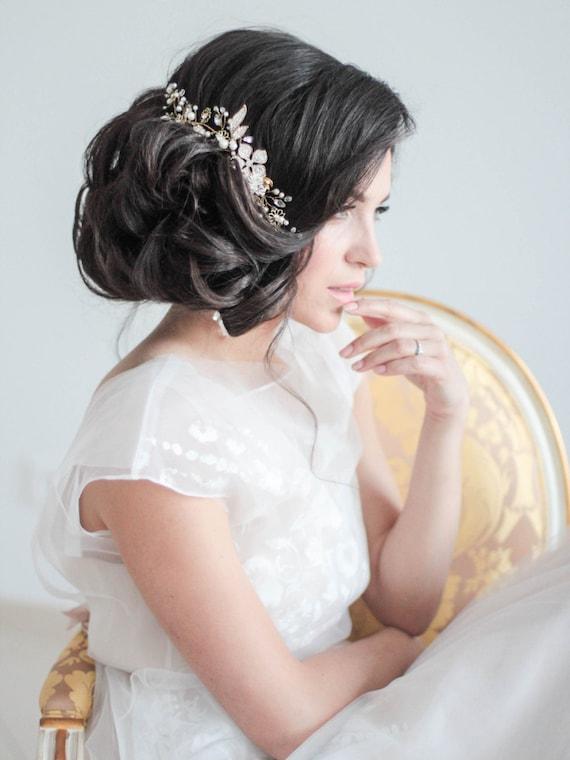Crystal Decorated Wedding Bridal Hair Comb Bridal Decorative Hair Comb Wedding Hair Comb Bridal Headpiece Head PIece Bridal Hair Piece