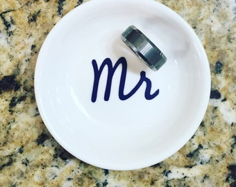 Mr Ring Dish | Husband Ring Holder | Wedding Gift For Him | Fiance Ring Dish | Personalized Engagement Ring Dish | Ring Holder