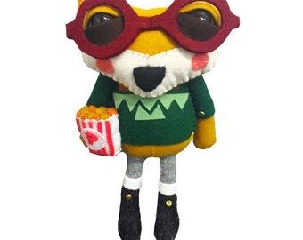 Flynn the Fox - handmade plush creature plushie toy - unique birthday gift
