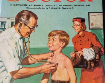 Vintage Children's Book: A Visit to the Doctor 1960