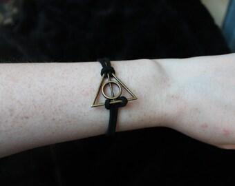 Harry Potter Deathly Hallows bracelet.