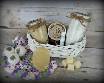 Spa Gift Basket - Bridal shower gifts - Lavender Gift Basket - Jasmine Gift Basket - Vanilla Gift Basket - Bridal Party Gifts - Spa Gift Set