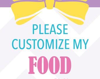 Customized Food Tags