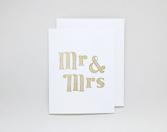 Wedding Congratulations Card // letterpress wedding card, wedding wishes, engagement card, wedding congratulations card, bridal shower card