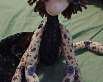Handmade Quilted Praying Mantis insect. OOAK