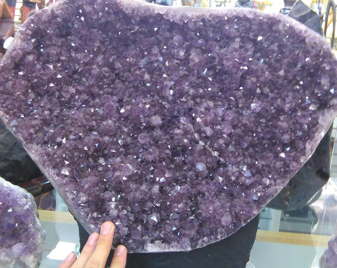 Amethyst Large Cluster- Cut Base Amethyst Geode- High Quality from Brazil Healing Crystals \ Reiki \ Healing Stone \ Healing Stones \ Chakra