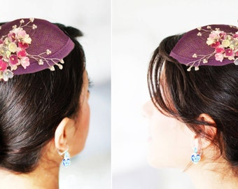 Paper flower Fascinator hat with clip
