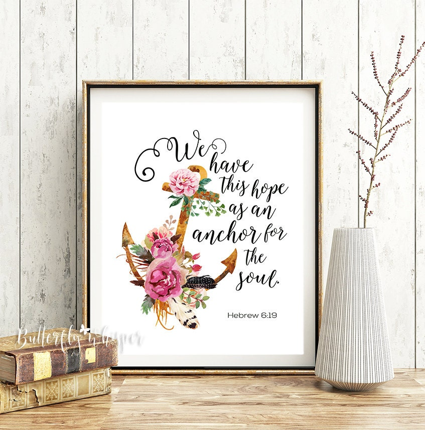 Wall Decor With Bible Verses : Bible verse wall art christian scripture print we have this