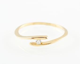 yellow gold engagement ring 18k white gold ring open diamond ring gold wedding
