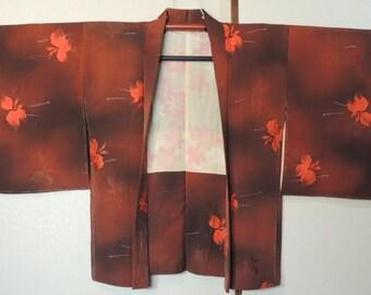 Vintage Kimono, Haori jacket , (ref C)
