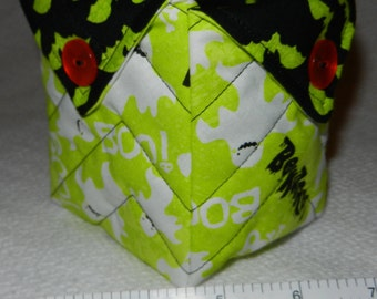 Quilted Halloween Candy Bowl, (Ghosts & Bats) - READY TO SHIP!!