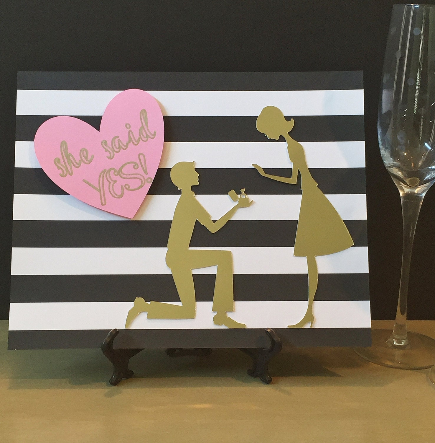 She said yes sign spade inspired bridal shower decor for Yes decoration