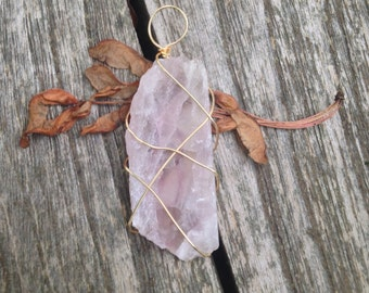 Light Lavender Fluorite Pendant