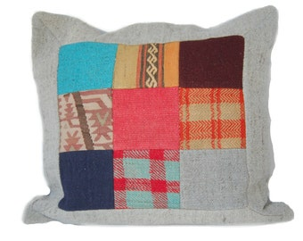"SALE! Kilim Pillow Decorative Kilim Pillow Vintage Woven Pillow Patchwork Pillow Floor Cushion  22""x24"",Interiordesign,FREE Shipping in USA"