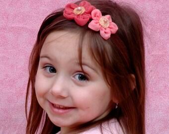 Pink Headband, Pink Flower Headband, Girls Headband, Baby Headband, Flower Headband, Baby Girl, Girls, Headbands, Pink, Baby Bow, Girls Bow