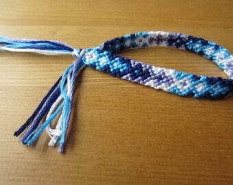 navy blue lavender and white friendship bracelet