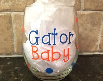University of Florida Gators Stemless Wine Glass
