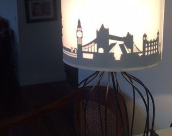 London cityscape lamp shade