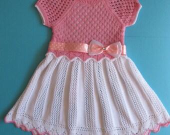 Girl's dress - 12 to 18 months - Baby knitwear -  Girl clothing - Kids knitwear