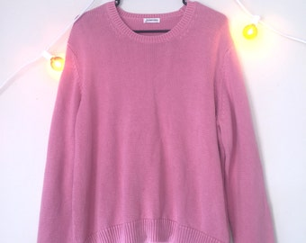 80s 90s / vtg / dusty rose pink / Oversized Sweater / size lg